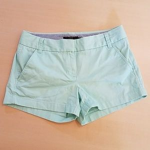 J Crew chino shorts light mint green